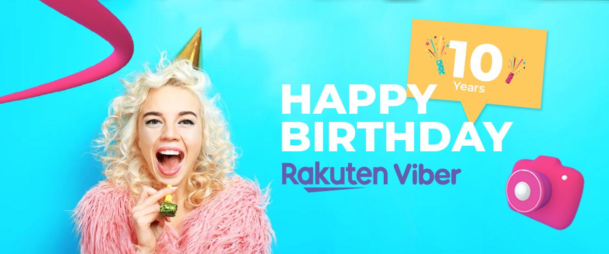 10 years Rakuten Viber
